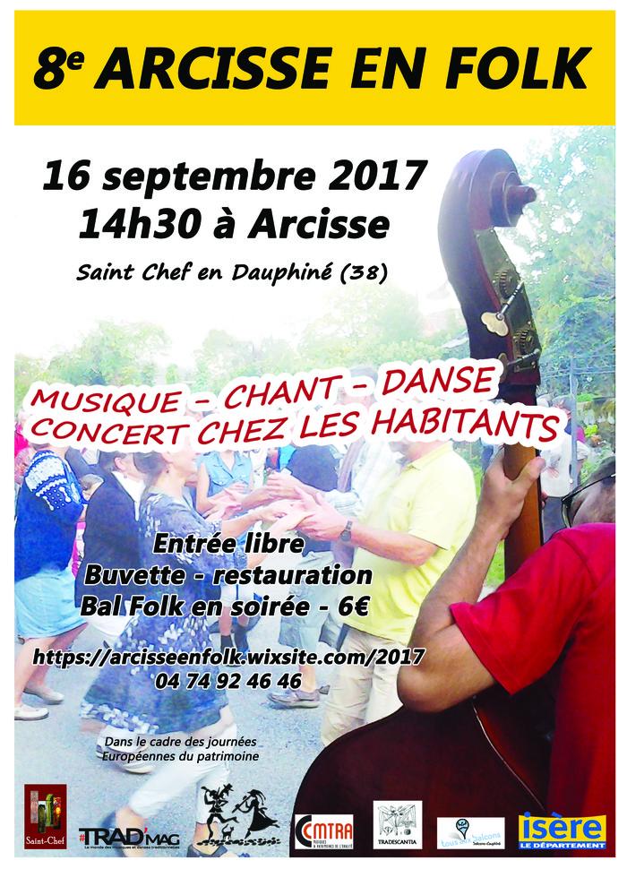 Journées du patrimoine 2017 - ARCISSE EN FOLK 2017