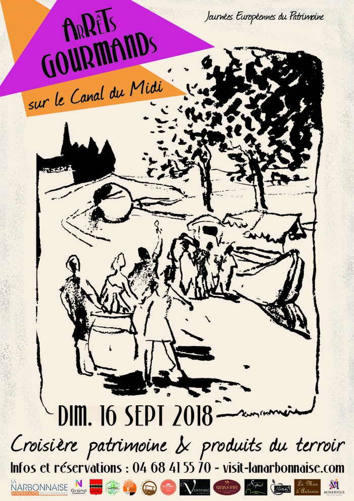 Journées du patrimoine 2018 - Arrêts gourmands sur le Canal du Midi - Croisière patrimoine et produits du terroir