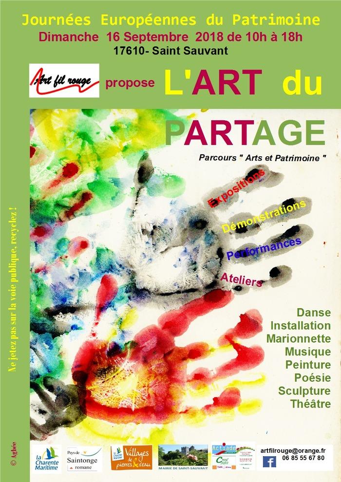 Journées du patrimoine 2018 - Arts vivants et patrimoine : l'art du partage à Saint-Sauvant