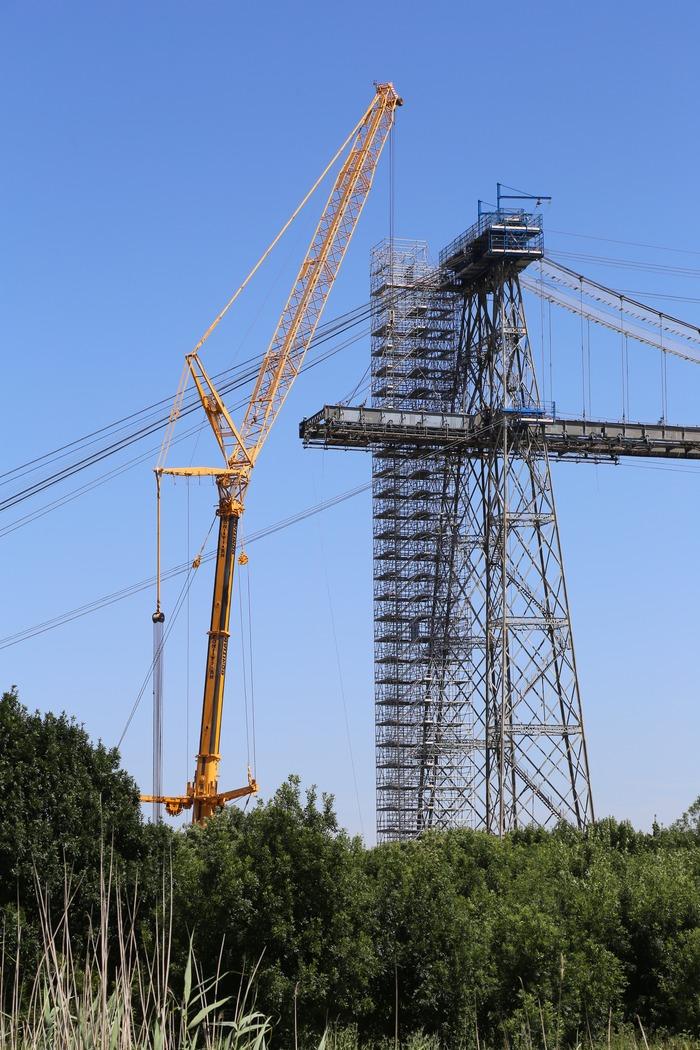 Journées du patrimoine 2018 - Assistez à la repose en direct du premier élément du nouveau tablier du pont transbordeur du Martrou !