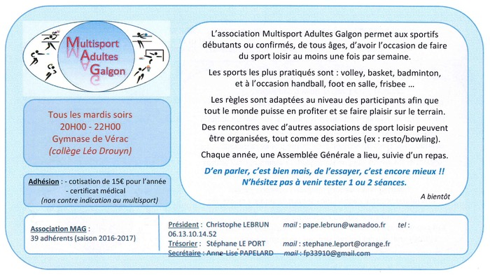Association Multisports Adultes Galgon