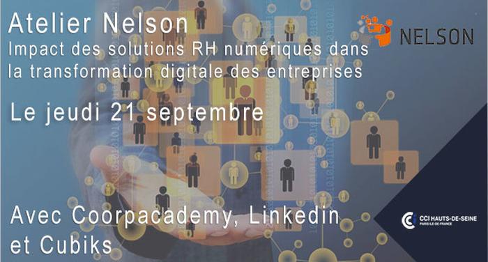 Atelier club NELSON du 21/09 : L'impact des solutions RH numériques dans la transformation digitale des entreprises