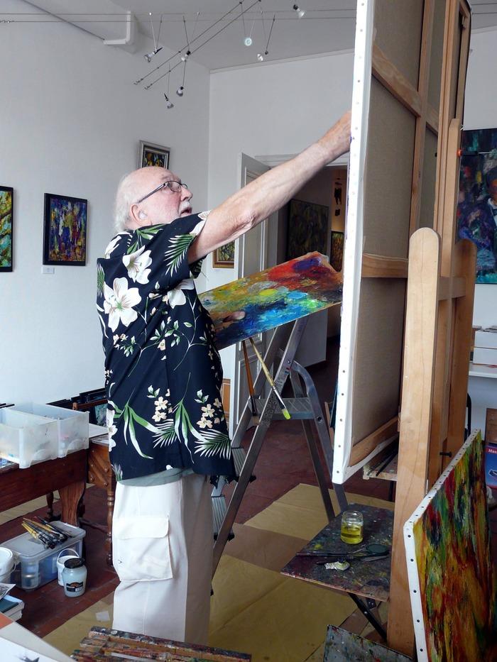 Journées du patrimoine 2018 - Démonstration des techniques d'un artiste peintre