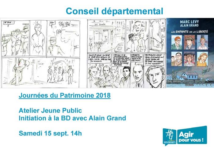 Journées du patrimoine 2018 - Atelier d'initiation à la bande-dessinée