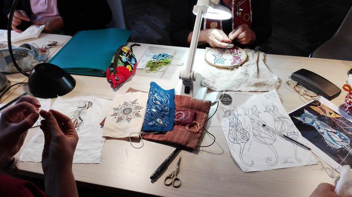Journées du patrimoine 2018 - Atelier de broderie traditionnelle bretonne