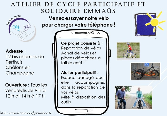 atelier de cycle participatif et solidaire Emmaüs