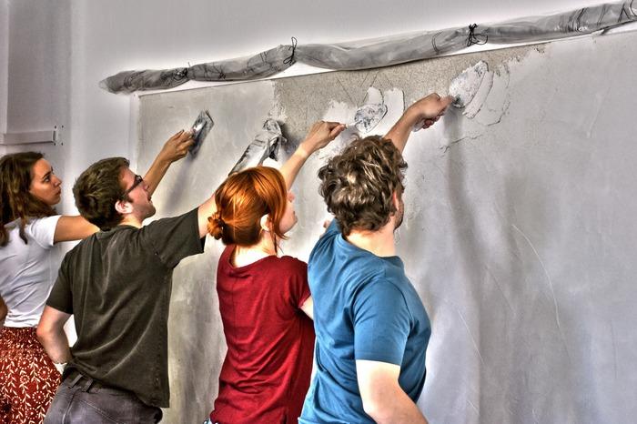 Crédits image : Visuel Démonstration de fresques - Photographie : Maison de l'Outil et de la Pensée Ouvrière