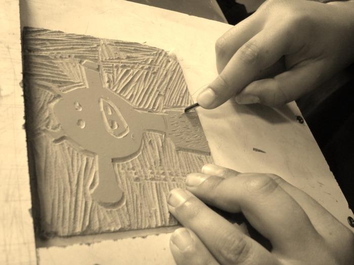 Journées du patrimoine 2017 - Atelier de linogravure