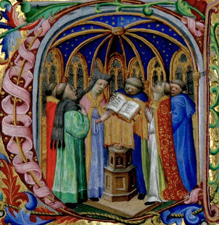 Crédits image : manuscrit ; bréviaire parisien ; c. 1400  Crédits : Médiathèque Équinoxe Châteauroux - BVH, CESR, Tours