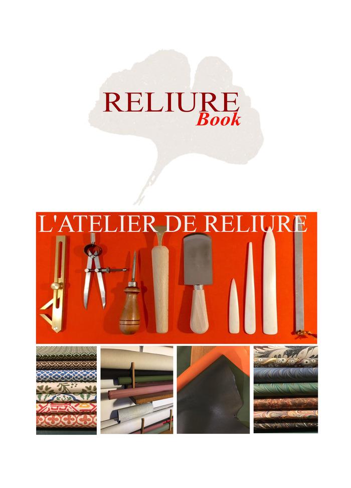 Journées du patrimoine 2018 - Atelier de reliure Reliurebook
