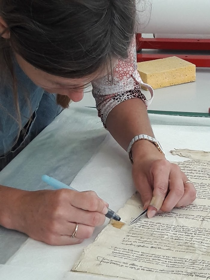 Journées du patrimoine 2018 - Atelier de restauration d'archives