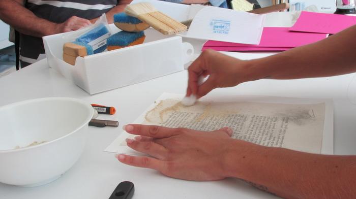 Journées du patrimoine 2018 - Atelier de restauration de documents