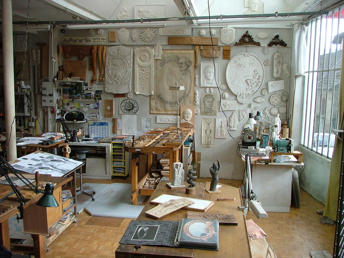 Journées du patrimoine 2018 - Démonstration à l'atelier de sculpture sur bois.