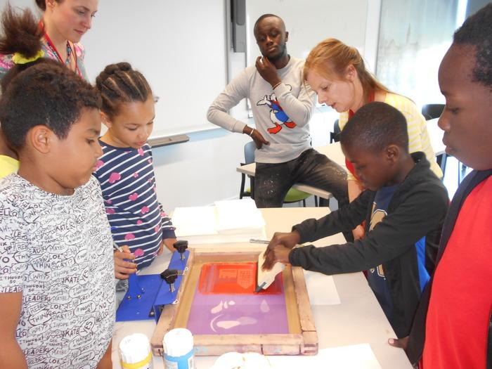 Journées du patrimoine 2018 - Atelier de sérigraphie à Pierrefitte