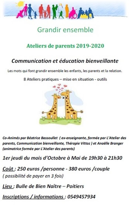Atelier des parents - Communication et Education Bienveillante