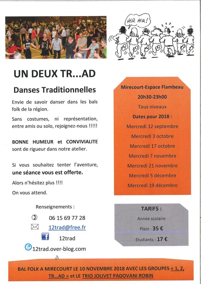 Atelier folk de Mirecourt pour le second semestre 2018
