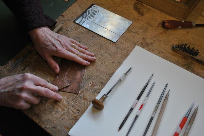 Journées du patrimoine 2017 - Atelier gravure adulte