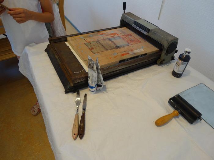 Journées du patrimoine 2018 - Atelier gravure et patrimoine
