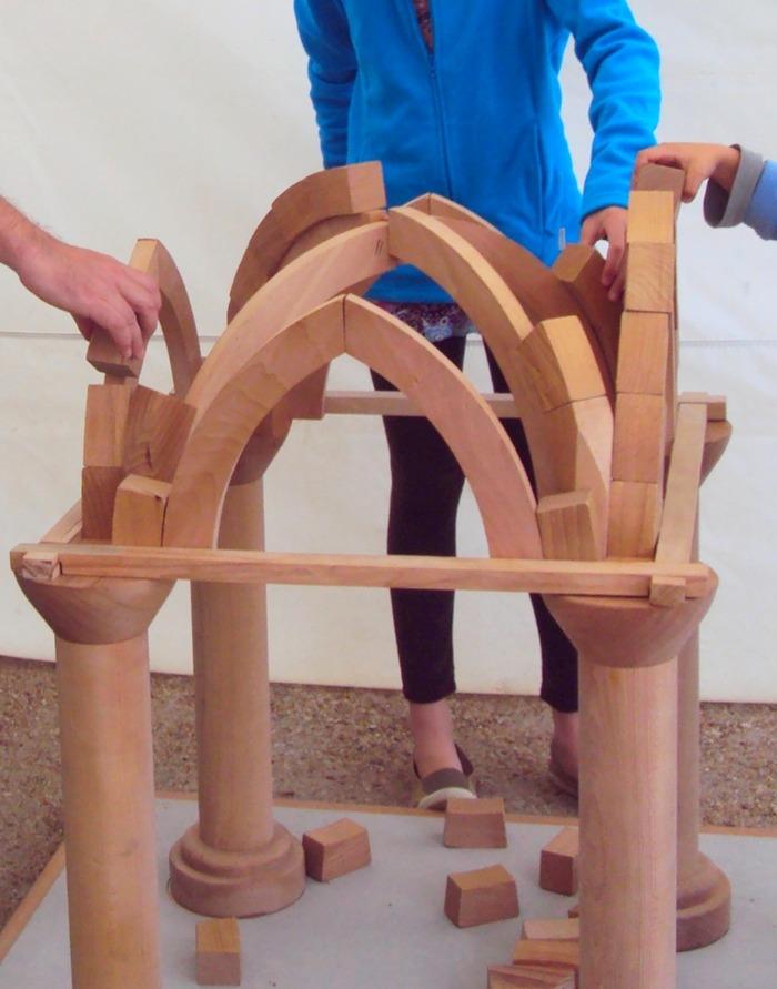 Journées du patrimoine 2018 - Atelier montage de voûte gothique