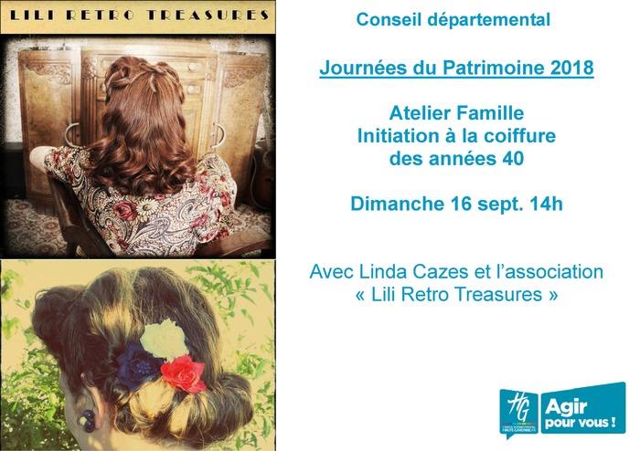 Journées du patrimoine 2018 - Atelier pratique d'initiation à la coiffure des années 1940