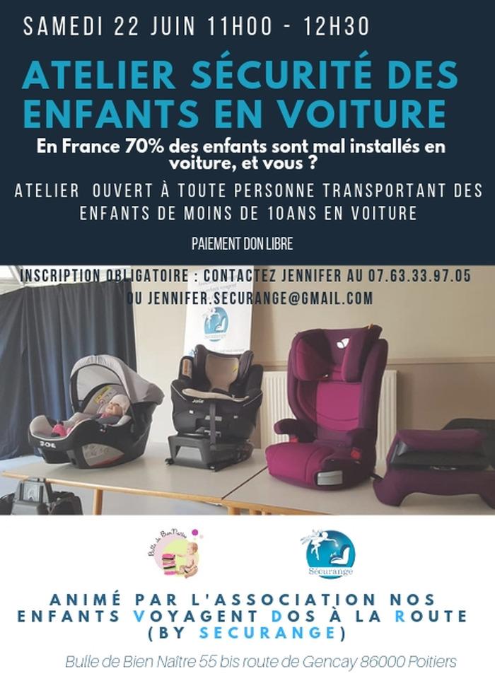 Atelier Sécurité des enfants en voiture