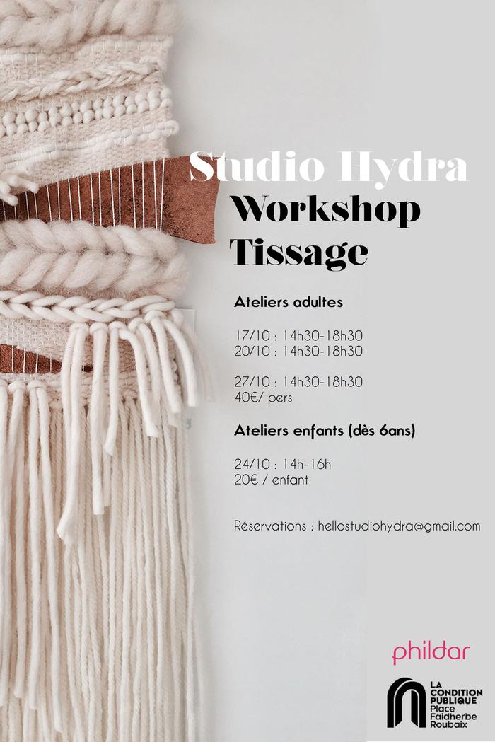 Atelier Tissage avec le Studio Hydra à La Condition Publique