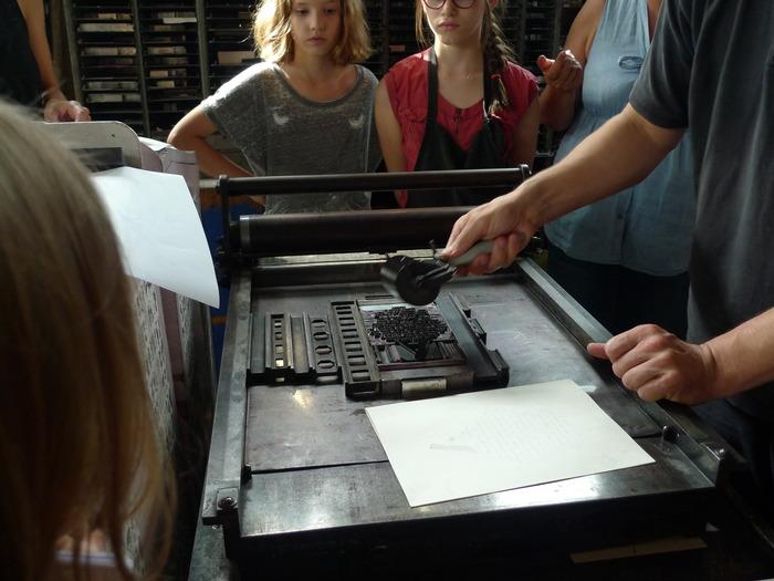 Journées du patrimoine 2018 - Atelier typographique