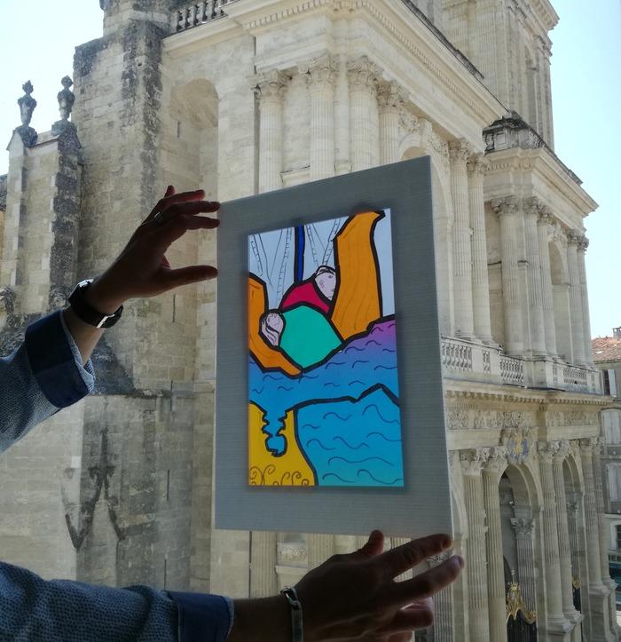 Journées du patrimoine 2018 - Atelier vitrail géant pour les enfants