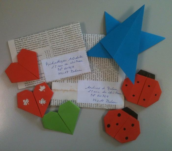Journées du patrimoine 2018 - Atelier pliages d'enveloppes et cartes d'invitation