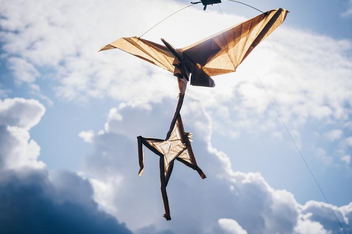 Journées du patrimoine 2018 - Ateliers cerfs-volants sur la butte d'Orgemont