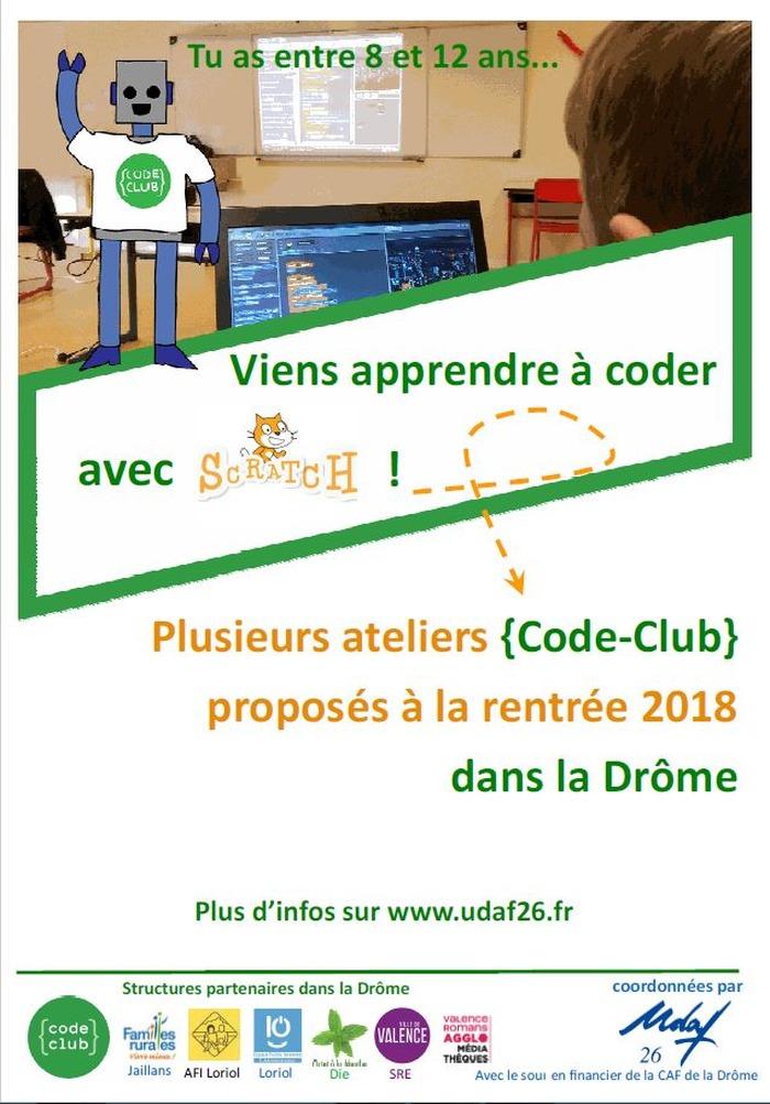 Ateliers Code Club 2018-2019