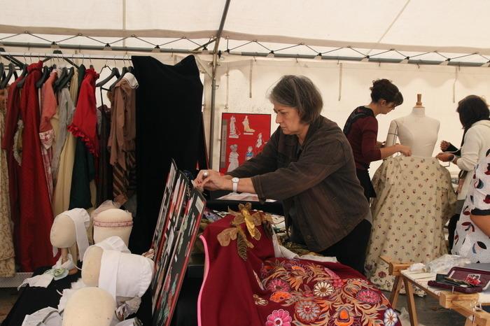 Journées du patrimoine 2018 - Ateliers d'habillage par le lycée Jules Vernes de Sartrouville.