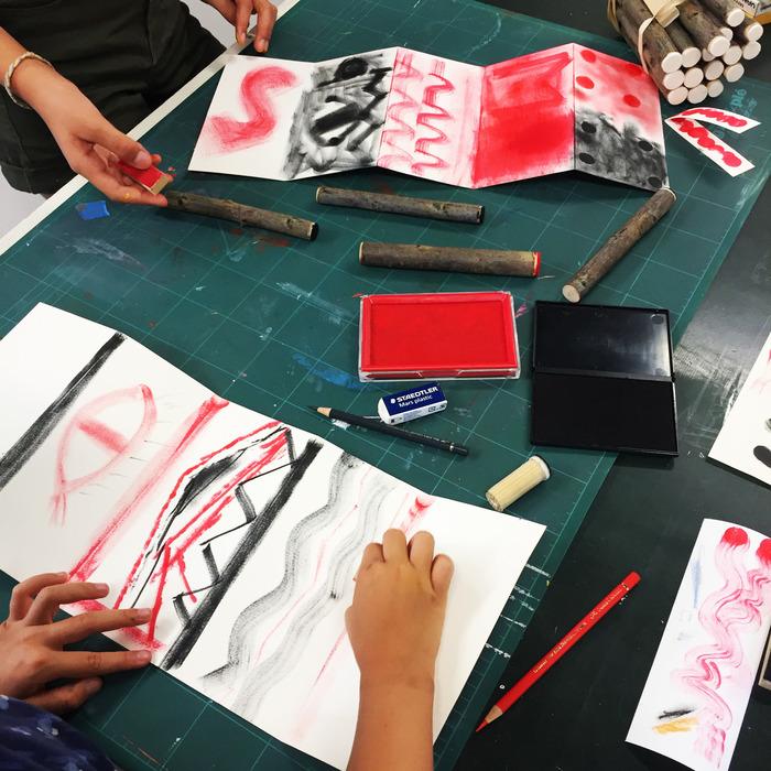 Journées du patrimoine 2018 - Ateliers enfants avec l'artiste Irma Kalt