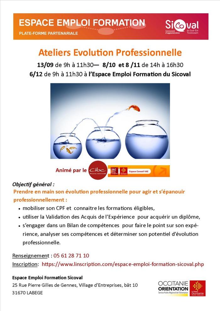 Ateliers Evolution professionnelle