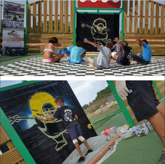 Journées du patrimoine 2018 - Ateliers graff pour les enfants animés par le graffeur Diips