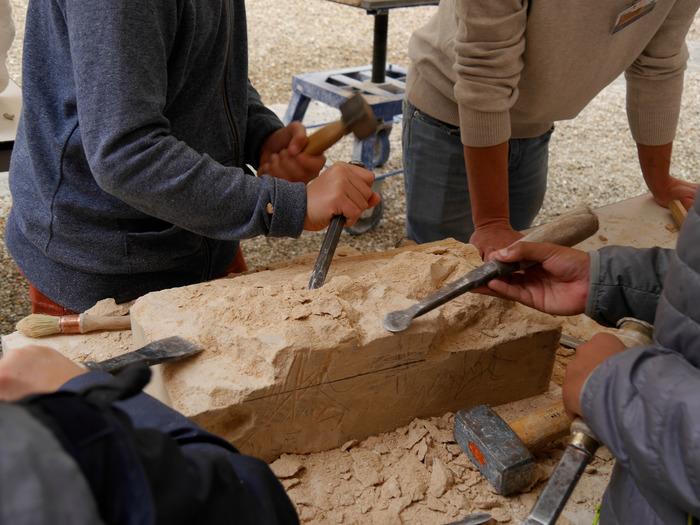Journées du patrimoine 2018 - Ateliers taille de pierre et sculpture