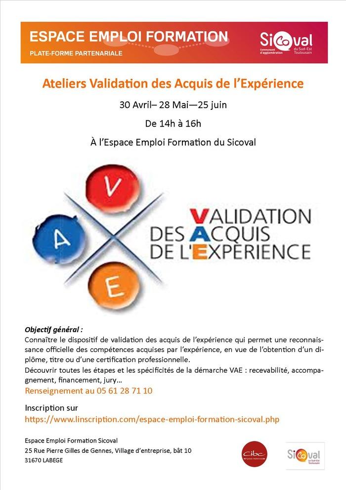 Ateliers Validation des acquis de l'expérience (VAE)