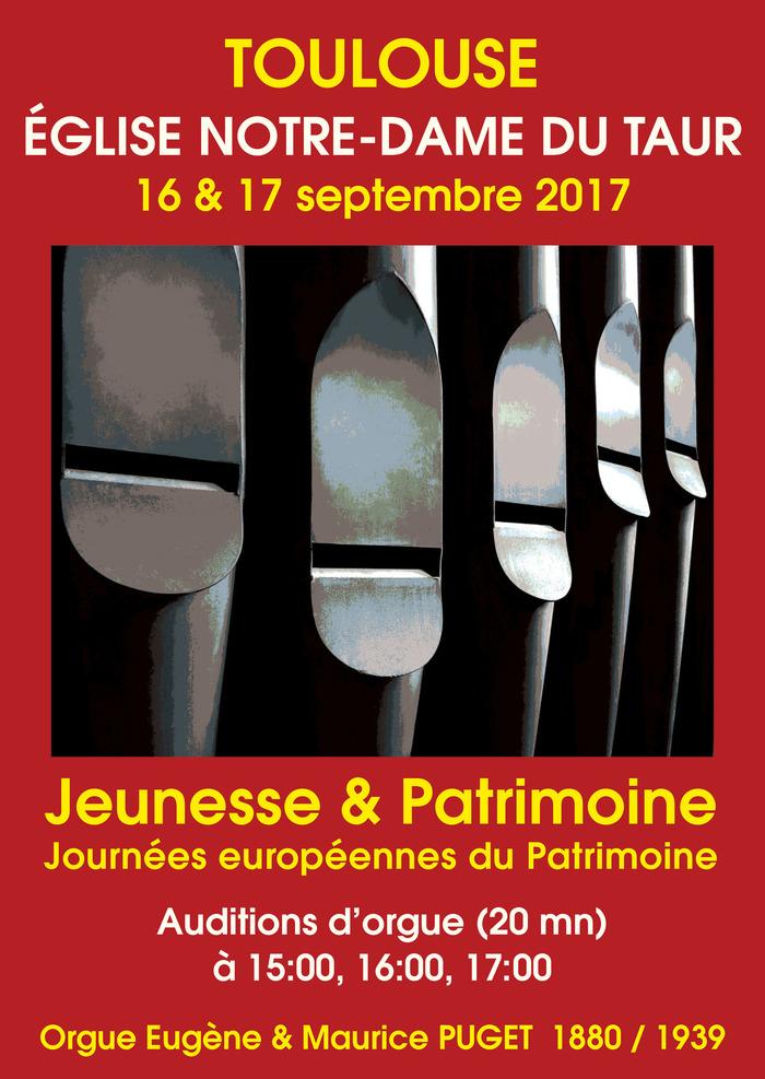 Journées du patrimoine 2017 - Auditions d'orgue