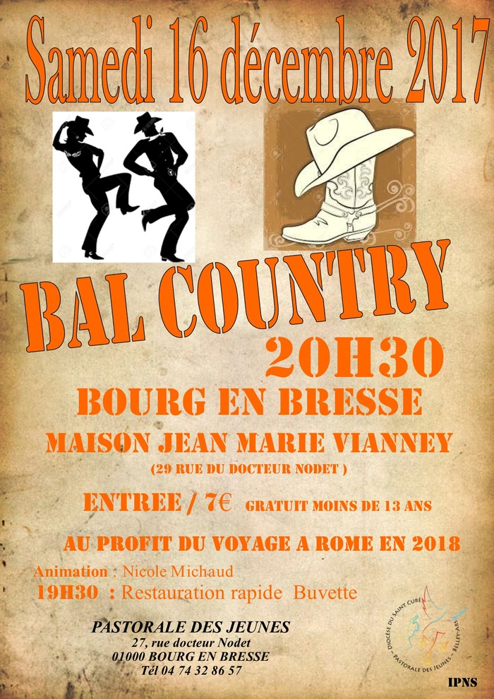 Bal country de la Pastorale des Jeunes