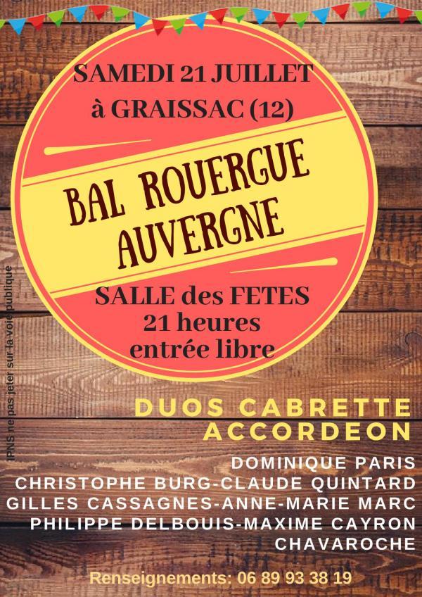 Bal Rouergue Auvergne à Graissac