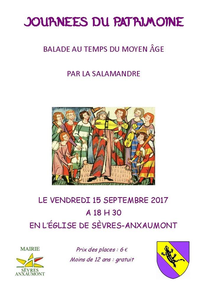 Journées du patrimoine 2017 - Balade au temps du moyen âge par la Salamandre