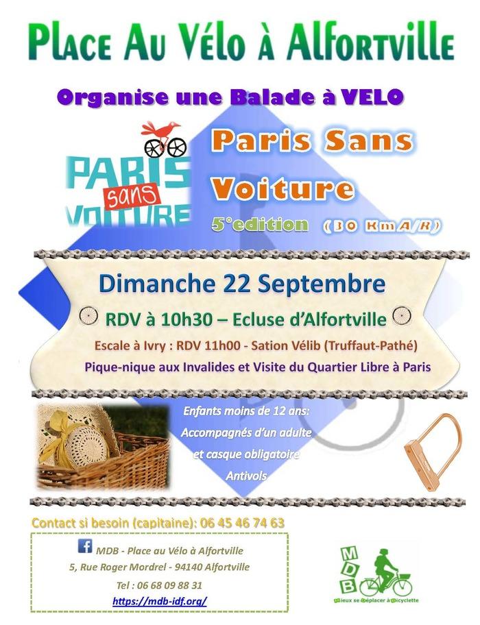Balade Paris Sans Voiture - Alfortville - Ivry - Paris