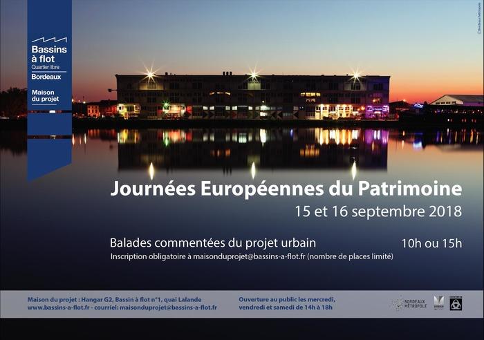 Journées du patrimoine 2018 - Dans les coulisses du projet urbain des Bassins à flot