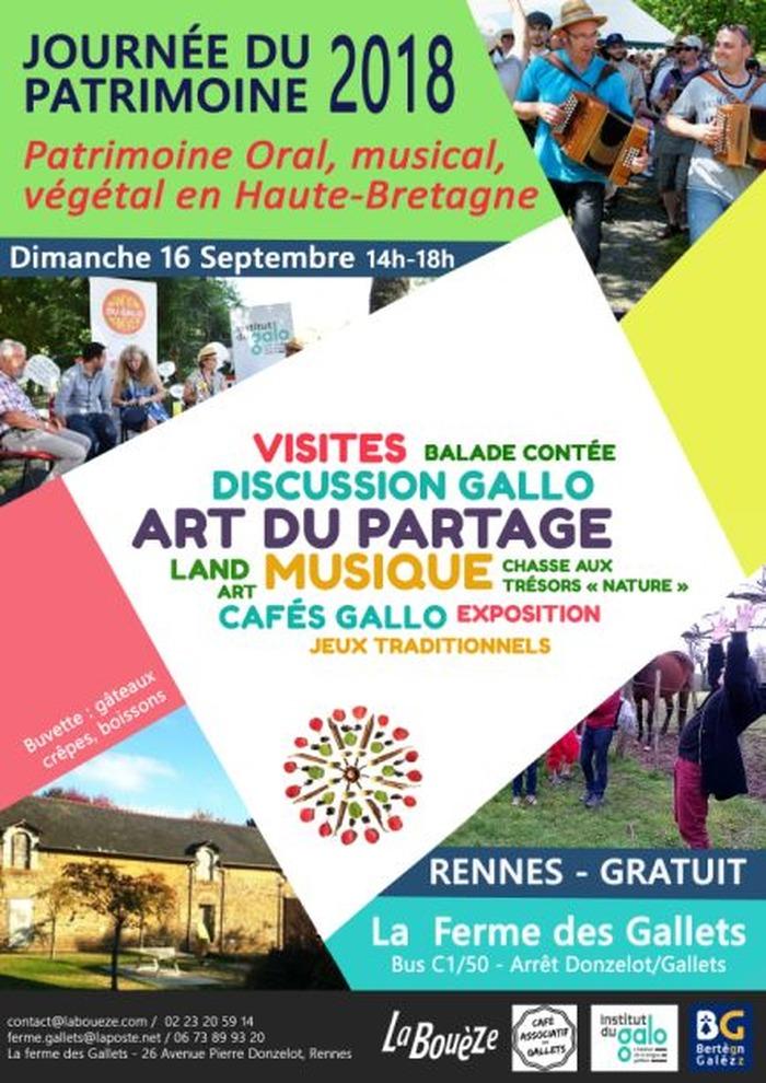 Journées du patrimoine 2018 - Ferme des Gallets - Passé, Présent, Avenir