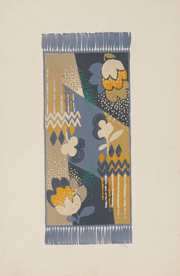Belles feuilles et petits papiers: Quelques esquisses et maquettes de tapis