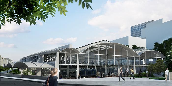 Halle Freyssinet Wilmotte building the future - construction station f @ halle freyssinet