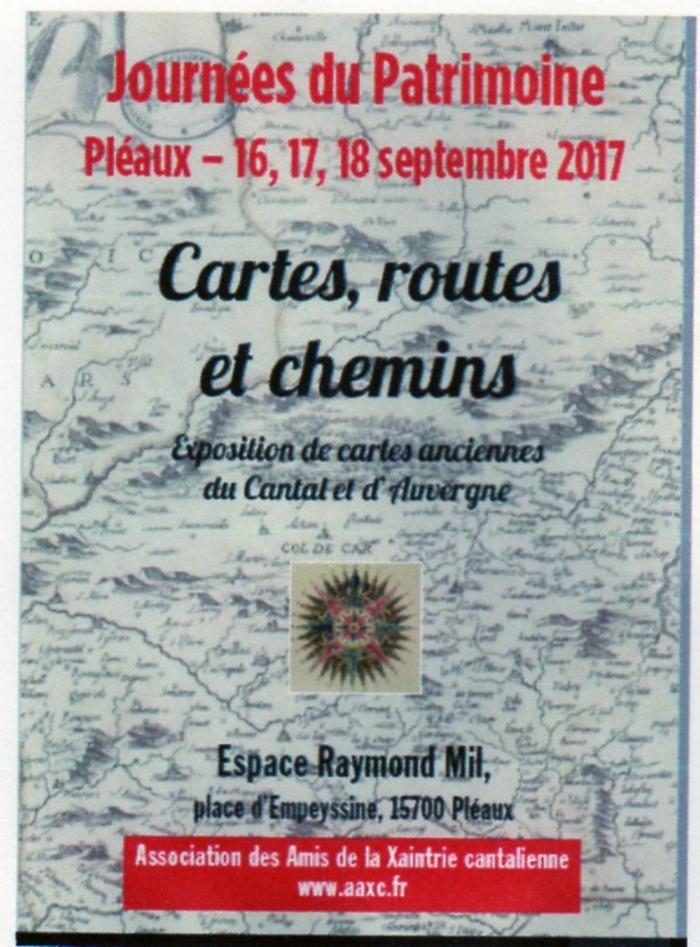 Journées du patrimoine 2017 - Cartes, routes et chemins