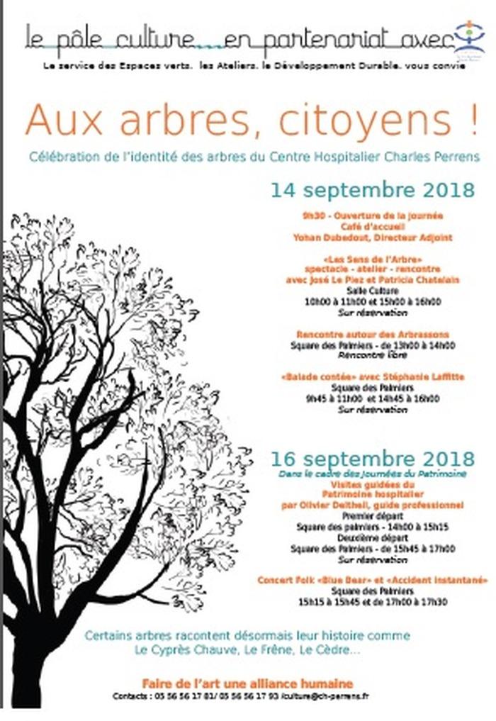 Journées du patrimoine 2018 - Célébration de l'identité des Arbres du Centre Hospitalier Charles Perrens