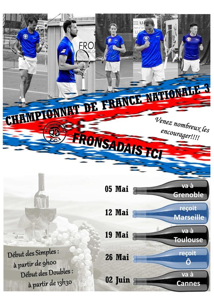 Championnat de France de Nationale 3 de l'Equipe du Fronsadais TCI