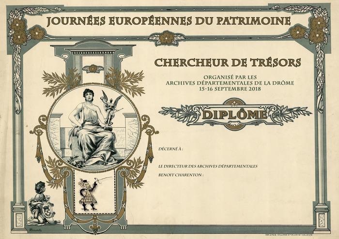 Journées du patrimoine 2018 - Animation «Chasse au trésor» aux archives départementales.